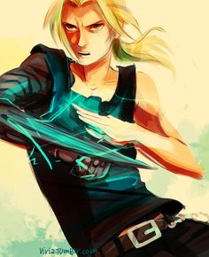 I like the stylized Edward Elric here. The medium is unusual but really works for this piece!
