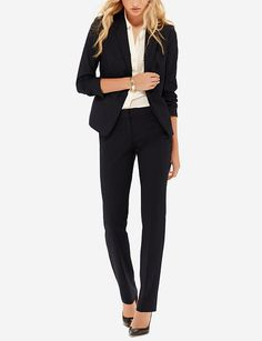 Black Collection Drew Simply Straight Pants & 2-Button Jacket