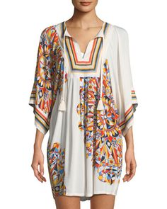 3a169263dd Tory Burch Psycho Geo Embroidered Coverup Tunic. Unique ClothingClothing  AccessoriesCashmere SweatersBeachwearSwimwearSwimsuitsCover UpSwim ...