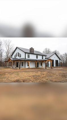 New House Plans, Dream House Plans, Farmhouse Design, Farmhouse Style, Farmhouse House Plans, Modern Farmhouse Exterior, Dream Home Design, My Dream Home, Metal Building Homes