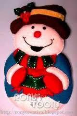 Resultado de imagen para moldes de muñecos de nieve