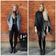 #PushWears with Megan and Cass; Winter tailoring vs. cosy cape.