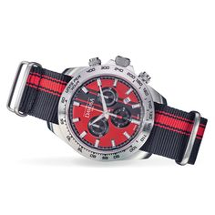 The DAVOSA chronograph with a textile strap continues the success story of the Speedline series. Red Watches, Watches For Men, Tudor, Omega Watch, Chronograph, Quartz, Accessories, Watches, Clocks
