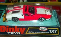 """Dinky Toys Nr. 187  """"De Tomaso Mangusta""""  Zustand sehr gut mit OVP"""