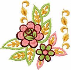 Flower 47 free machine embroidery design. Machine embroidery design. www.embroideres.com
