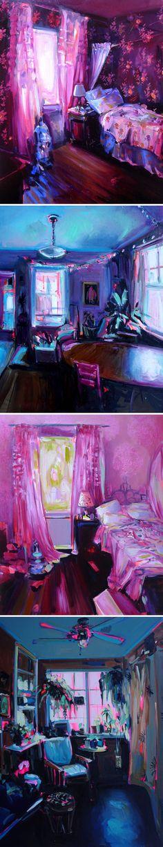 "beautiful domestic ""messiness"" - paintings by ekaterina popova"