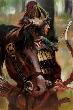 Horse -fighter-errow Yellow Tree, Warrior 2, Barbarian, Hungary, Vikings, Folk Art, Fantasy Art, Horses, History