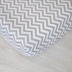 Organic Fitted Crib Sheet, Organic Baby Bedding, GOTS Certified, Gray Chevrons