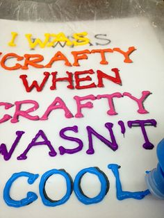 iLoveToCreate Blog: I was Crafty When Crafty Wasnt Cool Canvas Puffy Art
