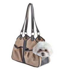 Petote Metro Classic Dog Carrier, Tan, Petite, $130, 13x5x7.75