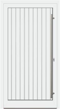 Aluminium Haustür Modell S00/R weiß