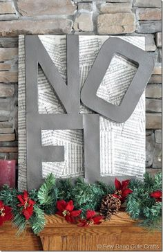 Noel Sign Tutorial - similar to that high-end store but at a fraction of the cost!