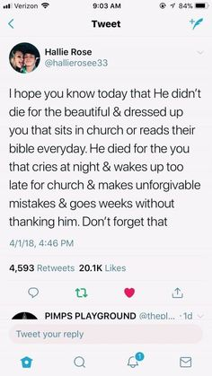 AlThough going to church and reading your bible everyday does make you a stronger Christian. However God still loves us when we mess up and make mistakes. Bible Verses Quotes, Jesus Quotes, Faith Quotes, True Quotes, Scriptures, Camp Quotes, Vinyl Quotes, Wisdom Quotes, Quotes Quotes
