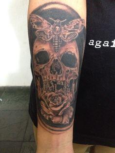 Tattoo caveira sombra
