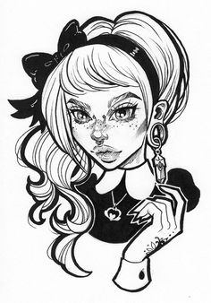"""Claudia - Glossy 5.5"""" x 8.5"""" B&W Print from graphicartery"""