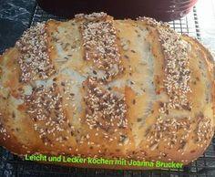Rezept Joannas Quarkbrot mit Körnern von joannakobili - Rezept der Kategorie Brot & Brötchen