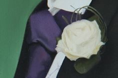 Painting Detail of Groom's Buttonhole by Gary Armer