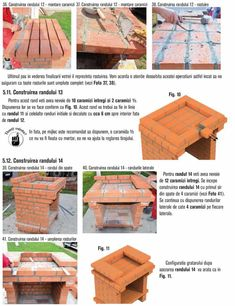 Cum se construieste un gratar din caramida? Bbq Grill Diy, Grilling, Outdoor Barbeque, Outdoor Furniture, Outdoor Decor, Wood, Crafts, Photos, House