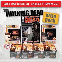 Last day to enter our The Walking Dead Prize Pack Giveaway! Enter before 11:59pm (CST) tonight for your chance to win everything you see here!