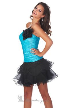 Tulle Mini Dress by Epic Formals for sale at $194.00 amazing price, it is designer dress and made to order! Its product model is [designerdrsses810] . CHEAPERDESIGNERDRESSES.COM , will be your friend.