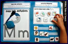 File Folder Phonics: Alphabet ~ Just found this on another post, and I'm loving… File Folder Activities, Pre K Activities, File Folder Games, Phonics Activities, Alphabet Activities, File Folders, Preschool Literacy, Kindergarten Reading, Literacy Skills