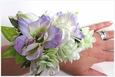 Faux Corsage - Wedding Corsage - Anniversary Corsage - Prom Corsage - Mother's Day Corsage - Delphinium/Hops Corsage