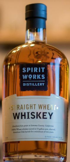 Spirit Works Distillery Straight Wheat Whiskey. They have released a Rye, too.