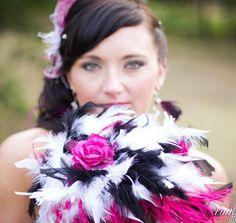 Ostrich Feathers & Rose Flower Bridal by kristindangerdesigns, $65.00