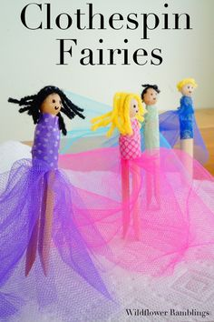 Clothespin Fairies {ultimate guide to clothespin crafts and ideas!} with a clothespin link up! from Wildflower Rambligns