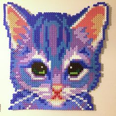 Cat perler beads by villal8