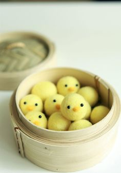 Needle Felted  12 Baby Chicks