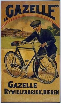 old retro vintage Bicycle poster Bycicle Illustration, Bycicle Woman Vintage Advertising Posters, Old Advertisements, Vintage Ads, Vintage Posters, Dutch Bicycle, Old Bicycle, Bicycle Art, Wooden Bicycle, Bicycle Design