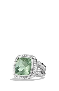 Gorgeous mint green statement ring from David Yurman. Such a great gift (Mother's Day is coming up!) and super versatile.