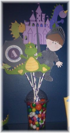 Dragons and Knights Party Centerpiece...such a cute theme for any age little boys.