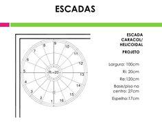 Resultado de imagem para diâmetro mínimo escada caracol Presentation, Chart, Map, Log Projects, Fabrics, Maps