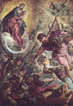 Archangel Michael Fights Satan, c.1590 Jacopo Tintoretto (Robusti) Reproduction | 1st Art Gallery