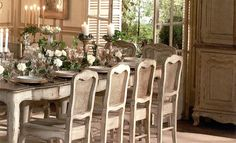 .: WOODHOUSE eShop :. French Chateau, Outdoor Furniture Sets, Outdoor Decor, Solid Pine, Dining Room, Tables, France, Interiors, Country