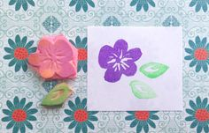 Flower stamp set