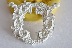 0326 Fancy Victorian Bow with Wreath Silicone by MasterMolds, $8.00