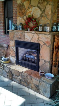 Flagstone Fireplace fireplace done with tudor old country fieldstone from cultured