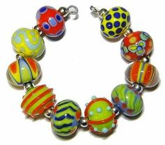*AMR* Bright Mix Lampwork Beads SRA