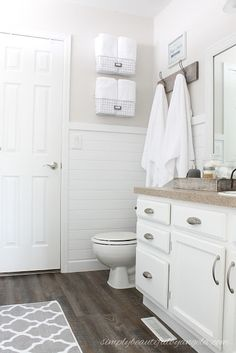 Simply Beautiful By Angela: One Room Challenge--Builder Grade to Farmhouse Style Master Bathroom on a Budget