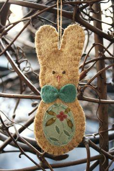 bowtie bunny easter rabbit ornament springtime by urbanpaisley, $12.00