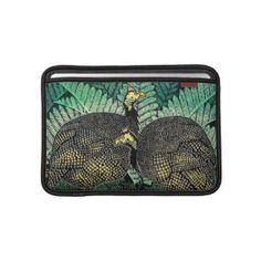 Guinea Hens kasamatsu shiro bird leaf japanese art MacBook Sleeve #Guinea #Hens #kasamatsu #shiro #bird #leaf #japanese #oriental #customizable #gifts and #accessories on #Zazzle #gift #Japan #tropical #asia #art #vintage