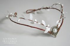 Wooland elven tiara  elven headpiece  by Ayalga on Etsy