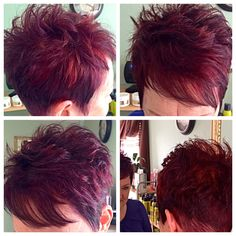 Pixie cut & energetic reds