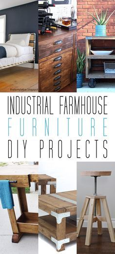 Industrial Farmhouse Furniture DIY Projects - The Cottage Market