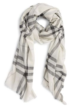 Giant Check Print Wool & Silk Scarf | Products | Pinterest | Check ...