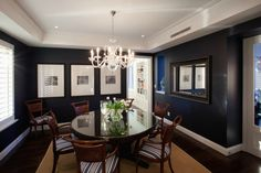 Formal Dining Room of Hamptons Style house for sale in City Beach, WA.