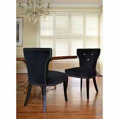 Bicci – Ensemble de 2 chaises Bling noires